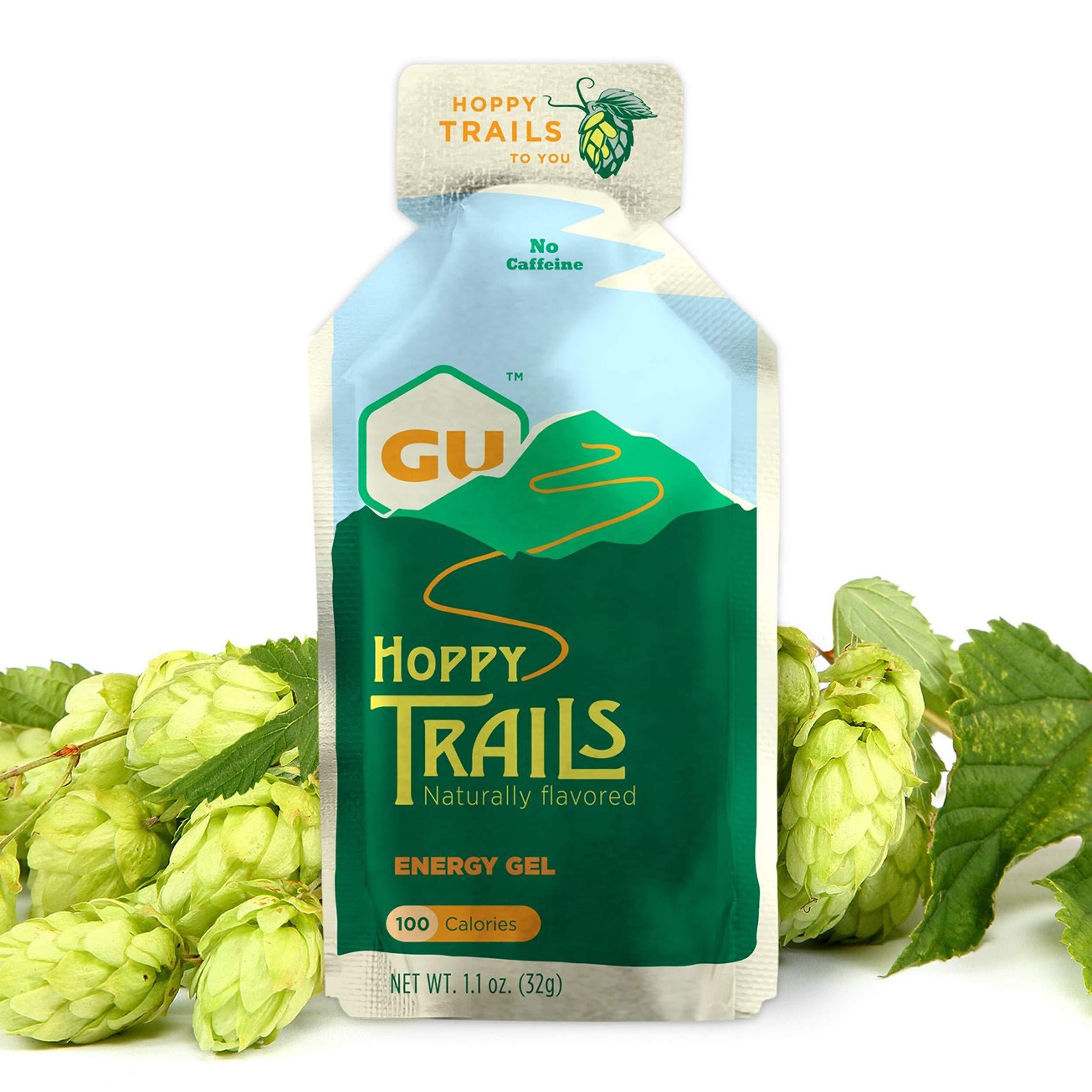 GU Energy Labs Original Sports Nutrition Energy Gel, Hoppy Trails, 24-Count Box