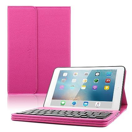 Amazon.com: iPad Mini funda con tapa y teclado, Boriyuan ...