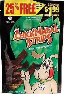 Pro Pac Chick'N'Strips Dog Treats, 7.2-Ounce Bag