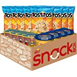 Tostitos Chip and Dip Pack Variety Pack, Bite Sized Rounds, Salsa Cups, and Nacho Cheese Dip Cups, 16 Count (Pack Of 1)