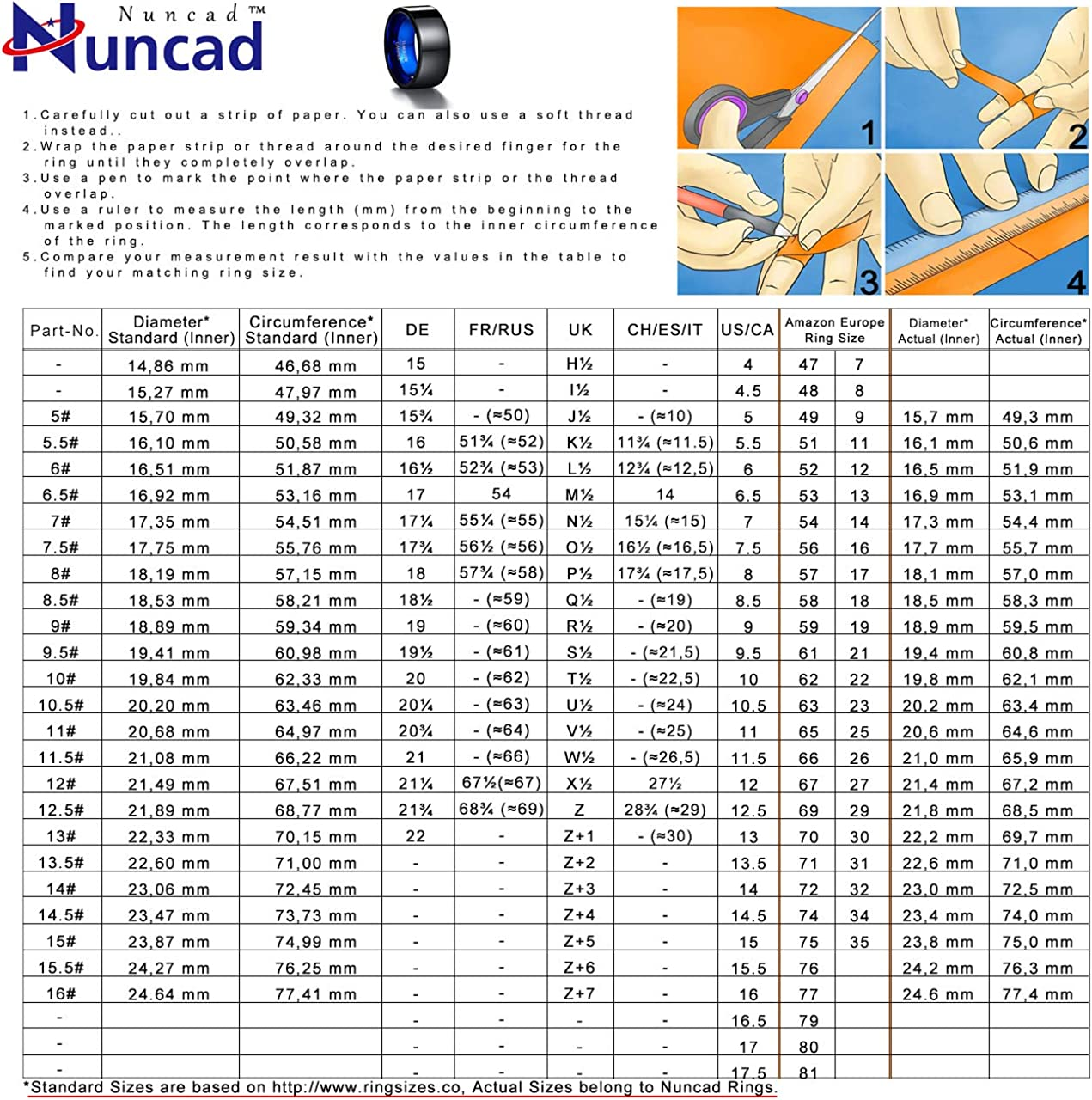 NUNCAD Bague Minimaliste Homme//Femme Unisexe en Tungst/ène 10mm Bleu Noir Bague de promesse Taille 55-70