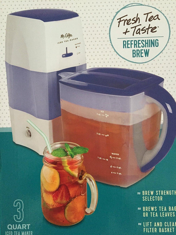 Mr. Coffee 3-Quart Fresh Tea Iced Tea Maker TM75BK-1