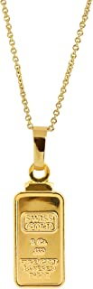 product image for American Coin Treasures 1 Gram Swiss Ingot Replica Pendant Layered in 24KT Gold