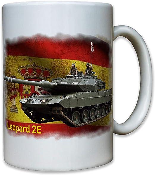 Leopard 2E Taza con diseño de tanque de guerra, España #8060: Amazon.es: Hogar