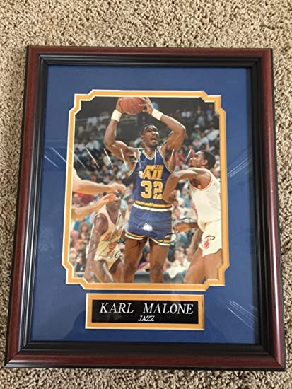 2d0ac8553db Karl Malone Utah Jazz 8 X 10 Framed Photograph Vintage Autographed Signed  Memorabilia JSA R15408 at Amazon s Sports Collectibles Store