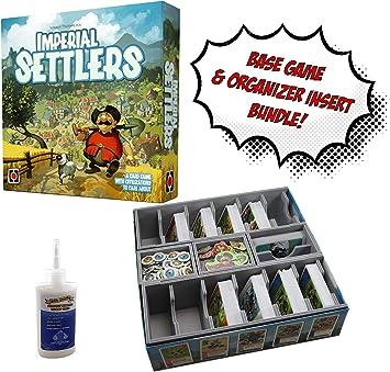 Juego de Mesa Imperial Settlers + Organizador de Inserciones Evacore Ajustable + Pegamento Golden Groundhog – Paquete de Juego de Mesa.: Amazon.es: Juguetes y juegos
