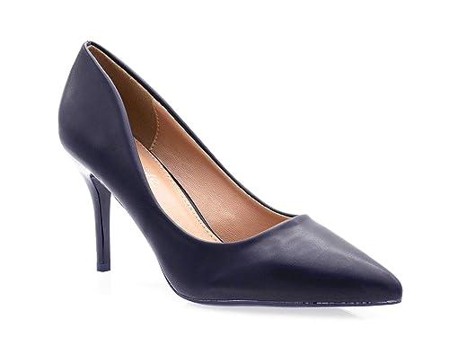37a8a04ec04e1 Fashion Shoes - Escarpin Femme Talon 9cm-Chaussures Escarpin uni Couleur- Escarpin Femme pour