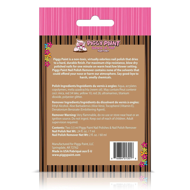 Amazon.com: Piggy Paint - 100% Non-toxic Girls Nail Polish, Safe ...