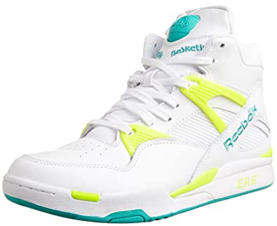 Reebok Pump Omni Zone Mens Leather Hi Top Sneakers-White-7.5