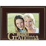 Malden International Designs I Heart Brass Word Grandma Picture Frame, 4x6, Brass