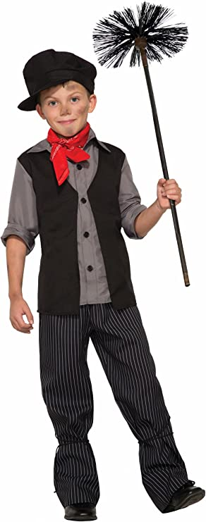 Victorian Kids Costumes & Shoes- Girls, Boys, Baby, Toddler Forum Novelties Child Poppins Chimney Sweeper Costume $29.99 AT vintagedancer.com