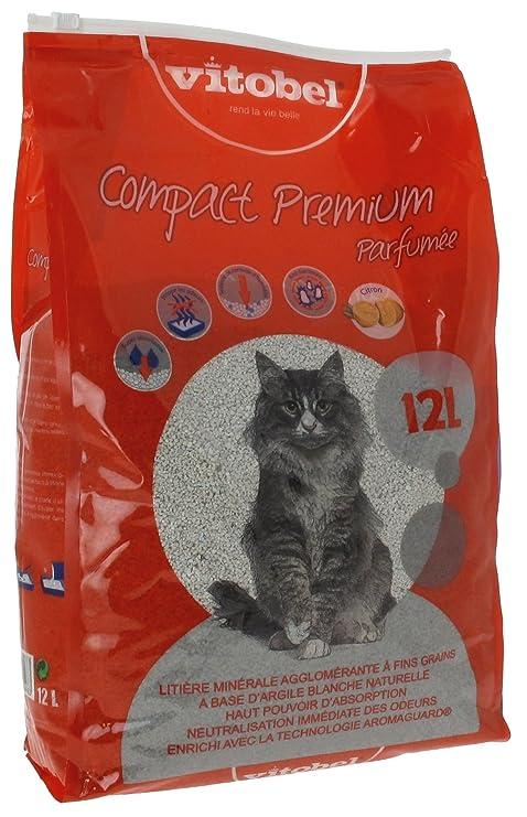 VITAKRAFT arena de barro Compact Premium aromático para gato 12 L