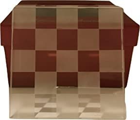 Lucien Piccard Chequered Crystal Coaster Set of 4