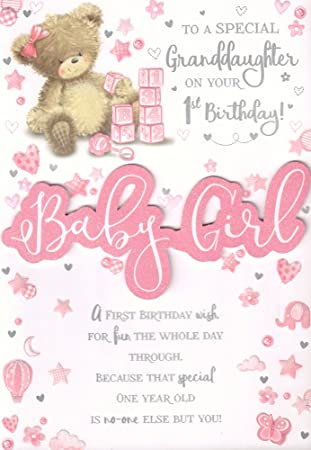Gift Ideas For One Year Old Granddaughter 1st Birthday Card