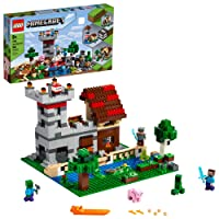 LEGO Minecraft The Crafting Box 3.0 21161 Minecraft Brick Construction Toy and Minifigures...