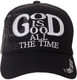 sports shoes a2e16 8a029 Artisan Owl God is Good All The Time Hat Religious Christian Gift - 100%  Cotton