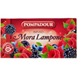 Pompadour Infuso, Mora Lampone, 20 Filtri x 3 gr [60 gr]