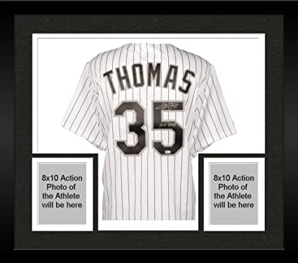 Framed Frank Thomas Chicago White Sox Autographed Replica Pinstripe ...