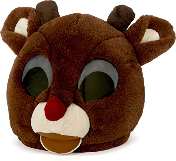 Moose Adult Costume Mascot Xmas Accessory Jumpsuit Hooded Mask Reindeer Rudolph