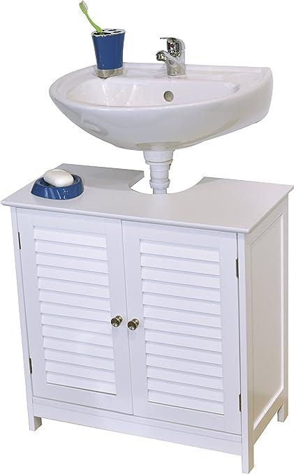 EVIDECO 9900307 Bath Under Sink Storage Vanity Cabinet Florence Louvre,  23.6u0026quot; H X 23.6u0026quot