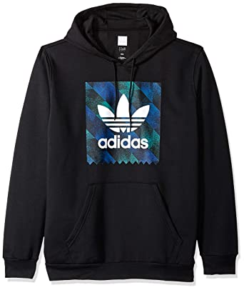 release date: ea684 29002 adidas Originals Men s Towning Hoodie, Black White Blue Active Green, Small
