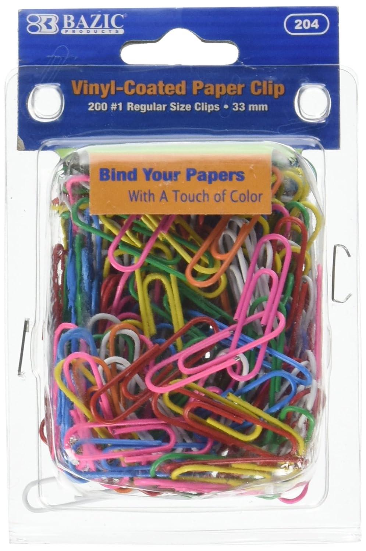amazon com bazic no 1 regular color paper clips 33 mm assorted