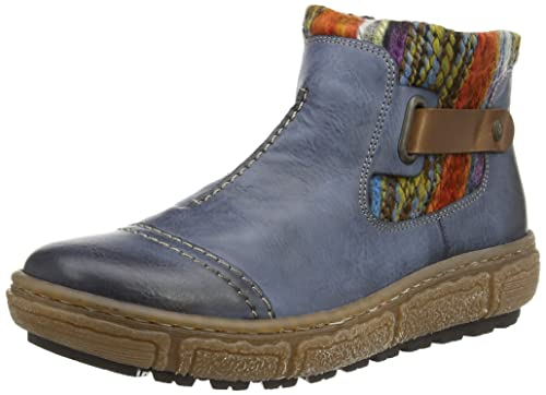 Rieker Z7984-14, Womens Ankle Boots, Multicolored (Blau Kombi), 3.5