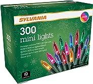 SYLVANIA Mini Christmas Lights, Multi, Two 150 Light Sets, Green Wire