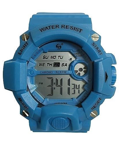 Reloj Digital de Hombre con diseño Deportivo, acuático de Uso Diario multifunción con cronometro Alarma