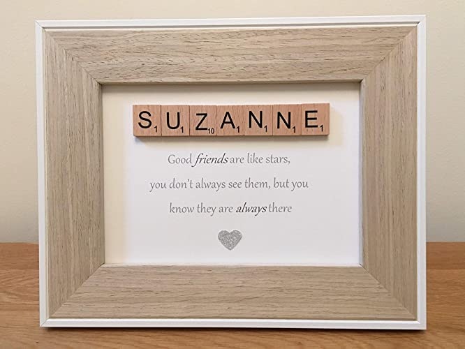 Personalised Scrabble Tile Letter Picture