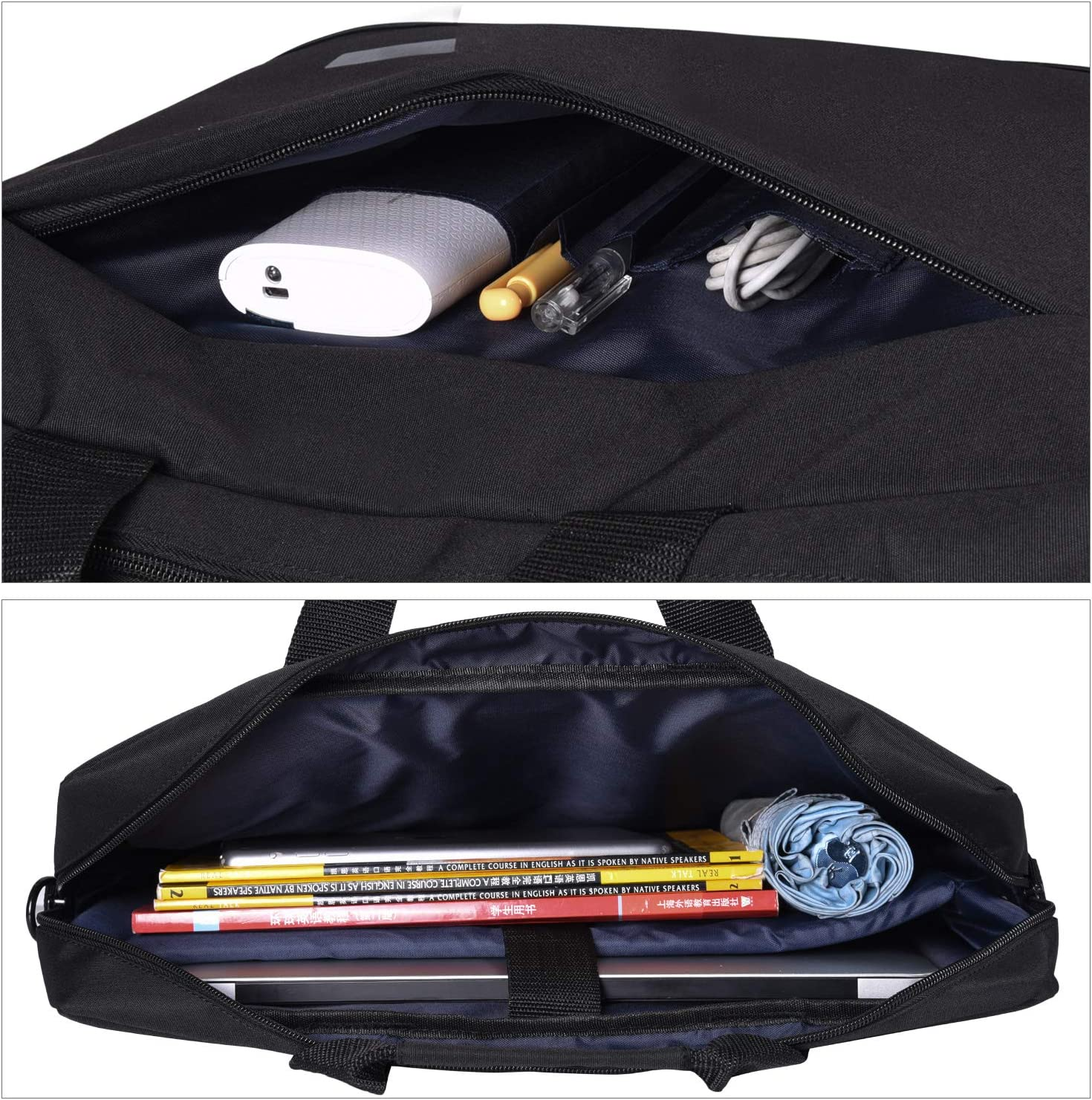Navitech Black Premium Messenger//Carry Bag Compatible with The Acer/Aspire 7 A715-74G 15.6