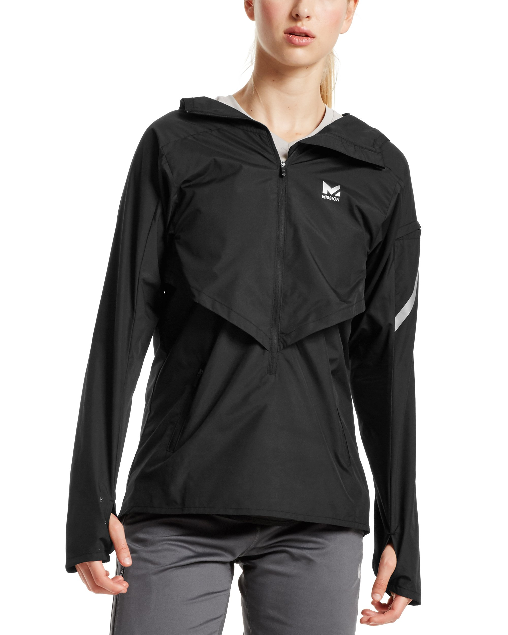 Mission Women's VaporActive Barometer Running Jacket, Moonless Night, Medium by MISSION (Image #1)
