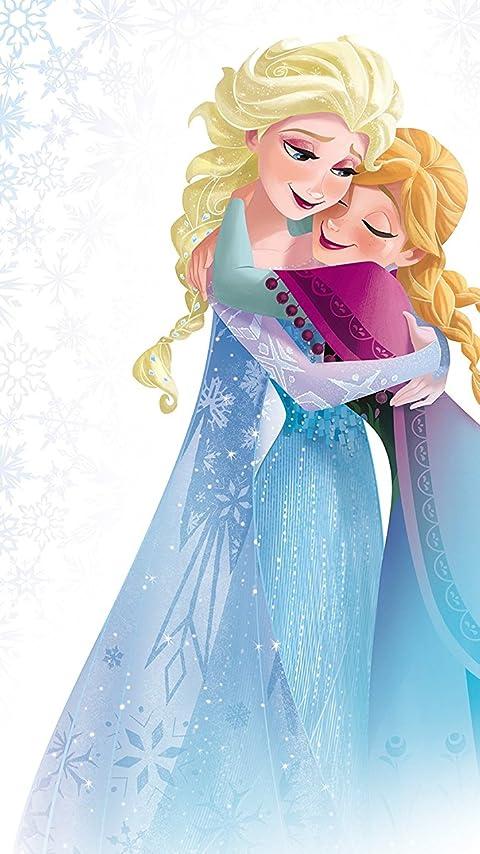 ディズニー 『アナと雪の女王』アナ,エルサ XFVGA(480×854)壁紙画像
