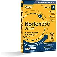 Norton 360 Deluxe 2020 | Antivirus pour 5 appareils et un an d'abonnement avec renouvellement automatique | Secure VPN et Password Manager | PC/Mac/iOS/Android | Téléchargement