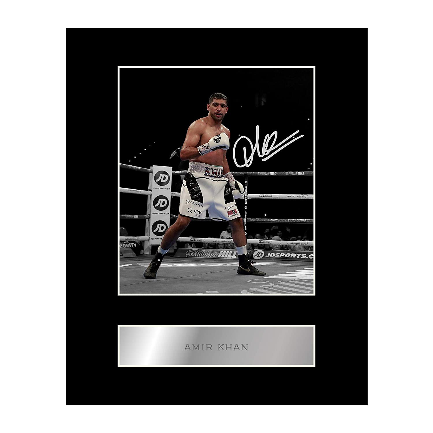 Amir Khan Signed Mounted Photo Display Boxing Champion Autographed Gift Picture Print Iconic pics