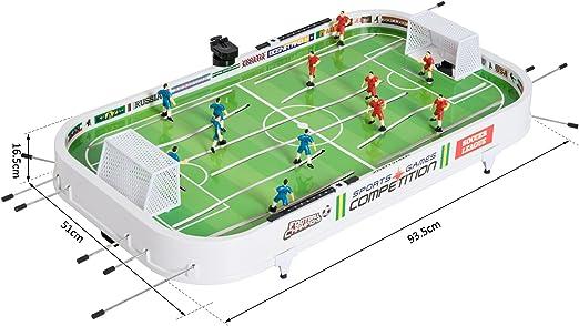 HOMCOM Set Fútbol Sobremesa Juego Mesa de Fútbol con Jugadores ...