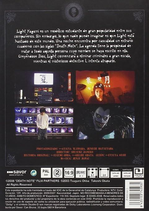Death Note 1 [DVD]: Amazon.es: Tatsuya, Asaka, Erika, Shido ...