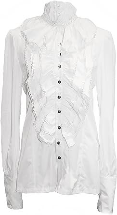 Punk Rave Gótico color blanco alzapaños (Camiseta Camisa ...