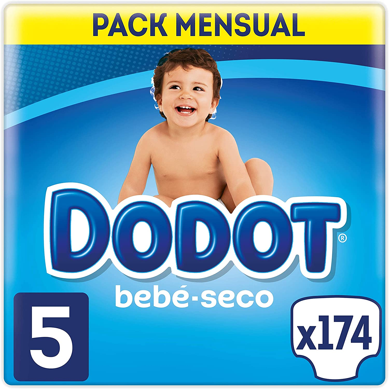 Dodot Bebé-Seco - Pañales, con canales de aire, 11-16 kg, Talla 5, Pack de 174
