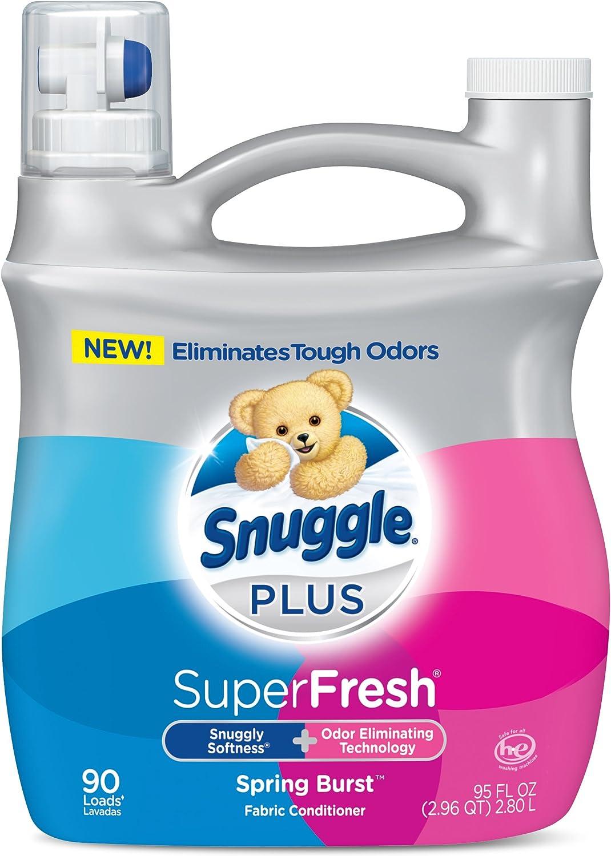 Snuggle Plus Super Fresh Liquid Spring Burst Fabric Softener, 95 Fluid Ounce