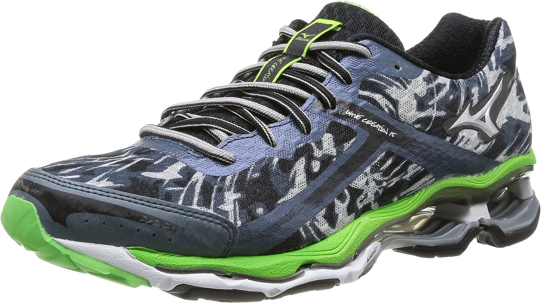 Mizuno Wave Creation 15 - Zapatillas de Running para Hombre, Color Dark Slate/Silver/Green Flash, Talla 41: Amazon.es: Zapatos y complementos