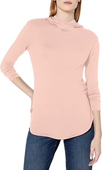Marca Amazon - Daily Ritual Supersoft Terry Long-Sleeve Hooded Pullover camisa, rosa (b), XL: Amazon.es: Ropa y accesorios