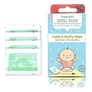 Razbaby Vapor-Raz Aromatherapy Baby Clip and Vapor Refills Lavender /& Menthol