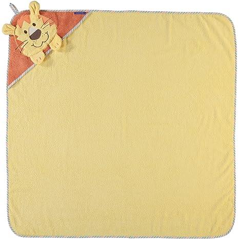 Morgenstern – Toalla infantil con capucha (100 x 100 cm, León bordado, 100