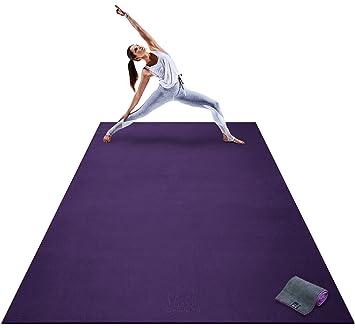 Amazon.com: Esterilla de yoga extragrande prémium: 9 pies x ...