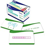 4th Grade Math Flashcards: 240 Flashcards for Improving Math Skills (Place Value, Comparing Numbers, Rounding Numbers, Fractions, Decimals, Measurements, Geometry) (Sylvan Math Flashcards)