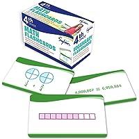 4th Grade Math Flashcards: 240 Flashcards for Improving Math Skills Based on Sylvan's Proven Techniques for Success (Sylvan Math Flashcards)