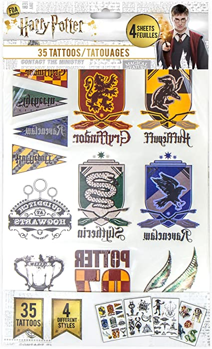 Harry Potter - Tatuajes (Temporales) - Set de 35 Estilos ...