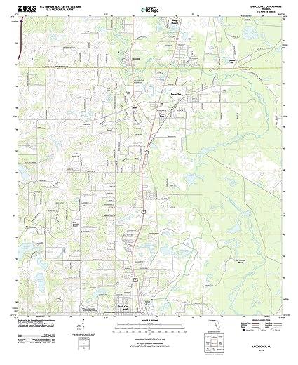 Amazon.com: Florida Maps | 2012 Lacoochee, FL USGS Historical ...