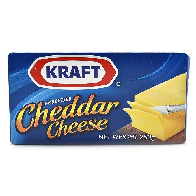 Kraft Processed Cheddar Cheese 250g ART01073
